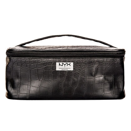 Black Croc Zipper Case