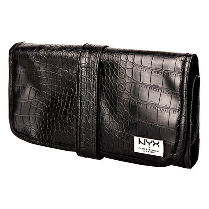 Black Croc Brush Roll