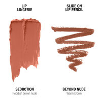 Lip Lingerie Lippie Duo - Seduction & Beyond Nude