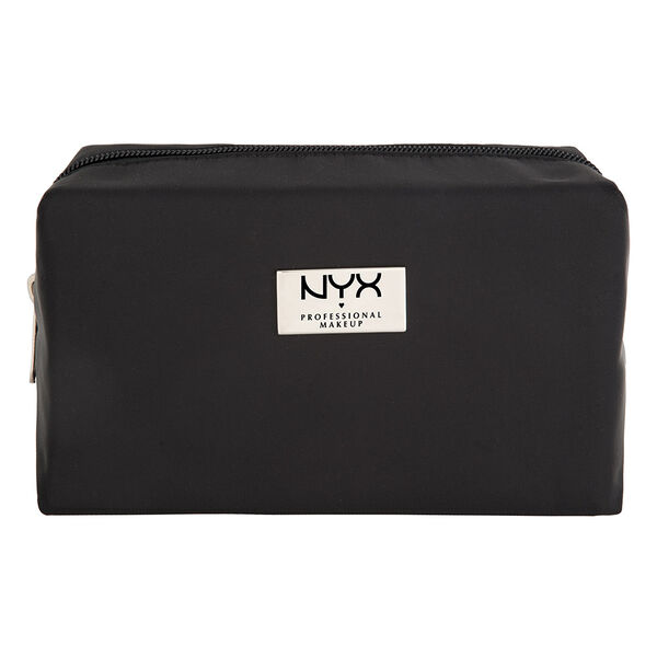 Black Medium Rectangular Zipper Makeup Bag Nyx