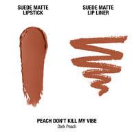 Suede Matte Lip Kit - Peach Don't Kill My Vibe