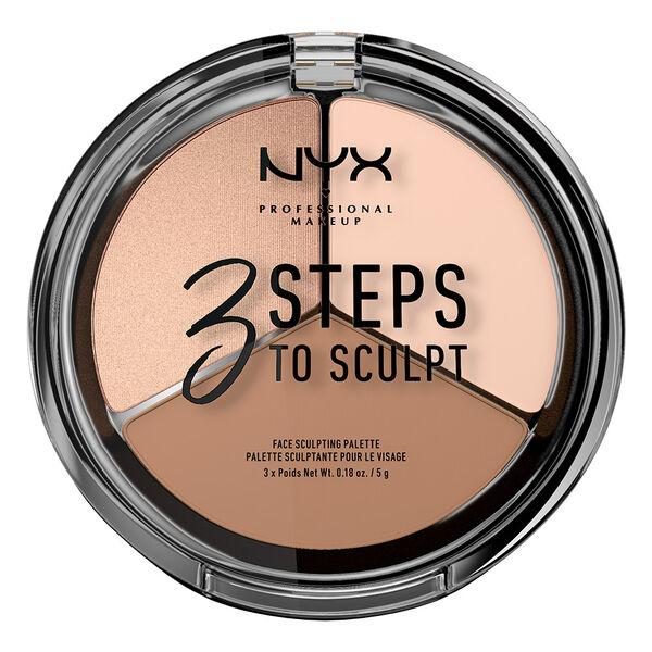 3 Steps To Sculpt Face Sculpting Palette Nyx