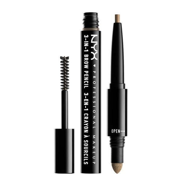 nyx eyebrow pencil. 3-in-1 brow pencil nyx eyebrow e