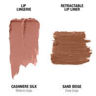 Lip Lingerie Lippie Duo - Cashmere Silk & Sand Beige
