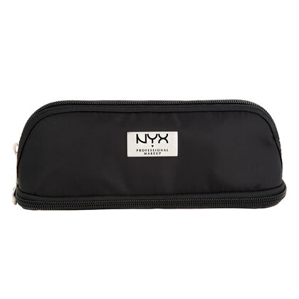 Black Small Double Zipper Makeup Bag