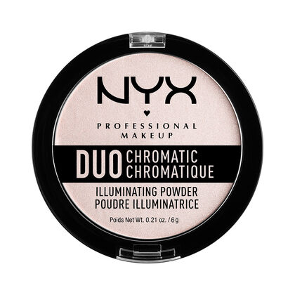 Image result for NYX PROFESSIONAL MAKEUP Duo Chromatic Illuminating Powder in snow rose