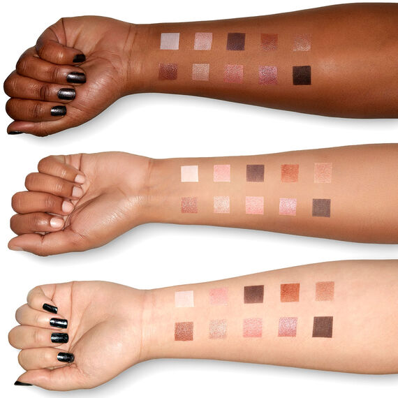 Love you so Mochi eyeshadow palette Sleek and Chic swatches on different arm skintones
