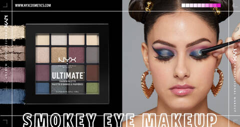 Smokey Eyeshadow Palette and Model