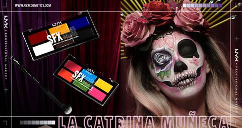 Check out our Beauty Collaborations! Meet La Catrina Muneca for Dia De Los Muertos!