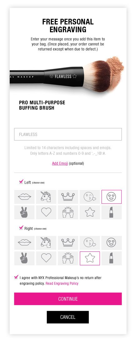 Give the product a personal touch by adding a message