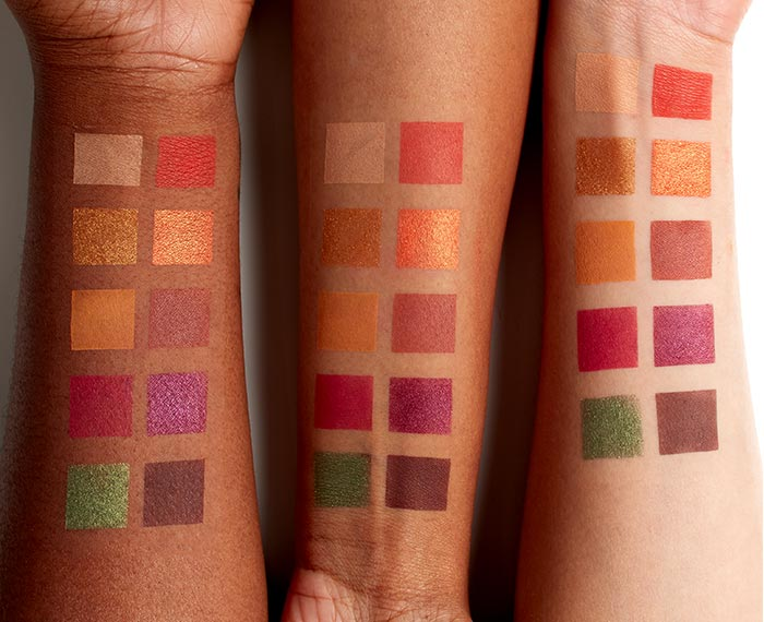 Off Tropic Palette palette Arm Swatches